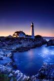 Luz principal de Portland, Maine Fotografía de archivo