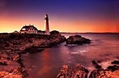 Luz principal de Portland, Maine Imagenes de archivo
