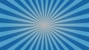 Luz - projeto azul do papel de parede do desktop do sunburst ilustração stock