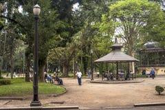 Luz Public Park i centra Sao Paulo Royaltyfri Foto