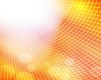 Luz quadrada do fulgor - fundo amarelo da cor ilustração stock