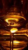 Luz que brilla con las reflexiones de cristal Imágenes de archivo libres de regalías