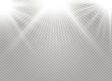 Luz que brilla intensamente blanca stock de ilustración