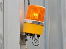 Luz que destella amarilla, sirena Fotos de archivo