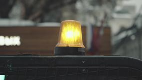 Luz que destella del color anaranjado metrajes