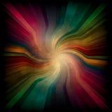 Luz radial mágica del arco iris Fotografía de archivo libre de regalías