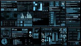 Luz - relação futurista azul/Digital screen/HUD ilustração do vetor