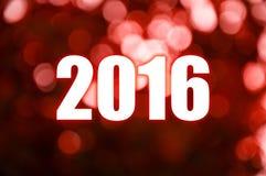 Luz roja de la falta de definición de la Feliz Año Nuevo Imagen de archivo libre de regalías