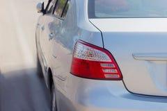 Luz roja del contraluz del coche Fotografía de archivo libre de regalías