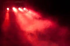 Luz roja del punto de la etapa Fotografía de archivo libre de regalías