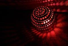 Luz roja en la linterna del coco Imagen de archivo libre de regalías