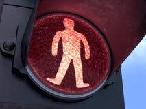 Luz roja peatonal Imágenes de archivo libres de regalías