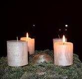 Luz romântica da vela Fotografia de Stock Royalty Free