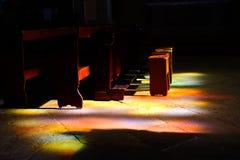 Luz santamente imagem de stock