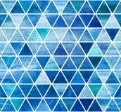 Luz sem emenda - teste padrão triangular azul Imagens de Stock