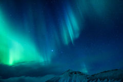 Luz septentrional asombrosa Imagen de archivo libre de regalías