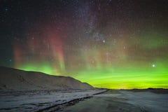 Luz septentrional en Tinn Imagen de archivo libre de regalías