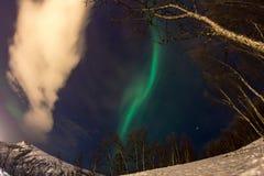 Luz septentrional en Tromsø fotos de archivo