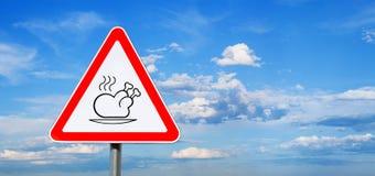Luz - sinal de céu azul e de estrada da ação de graças Foto de Stock