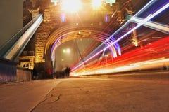 Luz sob a ponte da torre Imagem de Stock