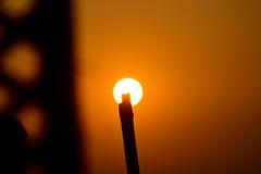 A luz solar com objeto sombreia a fotografia Foto de Stock Royalty Free