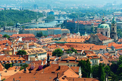 Luz solar da manhã em Praga Fotografia de Stock