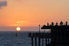 Luz solar da noite em Redondo Beach Fotos de Stock Royalty Free