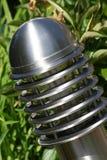 Luz solar do poste de amarração do jardim Imagens de Stock