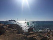 Luz solar no mar Foto de Stock