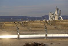 LUZ Solar plant in Barstow, CA Royalty Free Stock Images