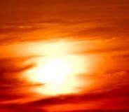 Luz solar que brilha através da nuvem Foto de Stock Royalty Free