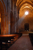 Luz solar que entra na igreja Imagens de Stock
