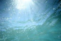 Luz solar subaquática Imagens de Stock Royalty Free