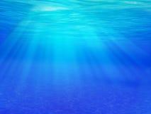 Luz solar subaquática Foto de Stock