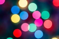 Luz suave de Bokeh colorida Fotografia de Stock
