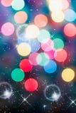 Luz suave de Bokeh colorida com bolhas Foto de Stock