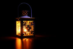 Luz suave de la linterna foto de archivo