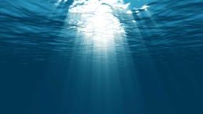 Luz subacuática en la laguna ilustración del vector
