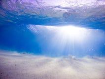 Luz subaquática Fotografia de Stock