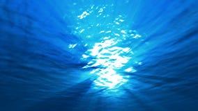 Luz subaquática do mar ilustração royalty free