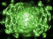 luz - sumário verde Foto de Stock