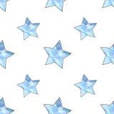Luz - teste padrão de estrelas estilizado azul Imagem de Stock Royalty Free
