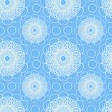 Luz - teste padrão sem emenda azul com flores e círculos abstratos Foto de Stock