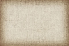 Luz - textura de linho natural amarela para o fundo Imagens de Stock
