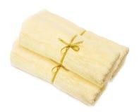 Luz - toalhas amarelas foto de stock royalty free