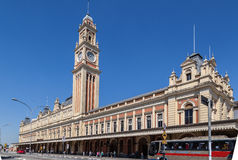 Luz Train Station Clock Tower Sao Paulo Brazil Royalty Free Stock Image