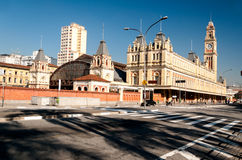 Luz train station, sao paulo Royalty Free Stock Photos