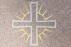 Luz transversal e celestial em uma superfície de pedra Fotografia de Stock Royalty Free
