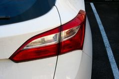 Luz traseira de um carro Foto de Stock Royalty Free