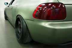 Luz traseira de um carro de esportes Fotografia de Stock Royalty Free